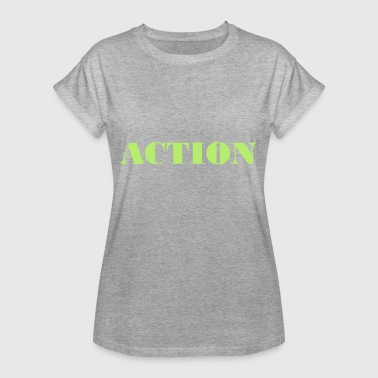 Action action - T-shirt oversize Femme