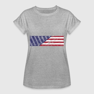 Independence Day 4th of July US Flag Patriots - Women's Oversize T-Shirt