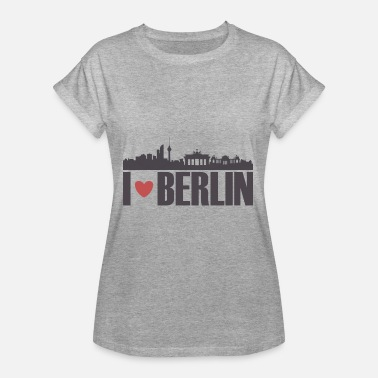 Bundestag Berlin TV tower gift Reichstag Bundestag - Women's Oversize T-Shirt