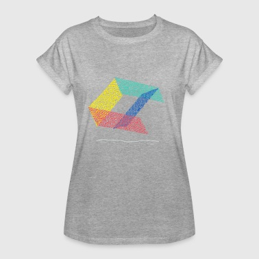 Abstract design graffiti eiger fences skater ramp - Women's Oversize T-Shirt
