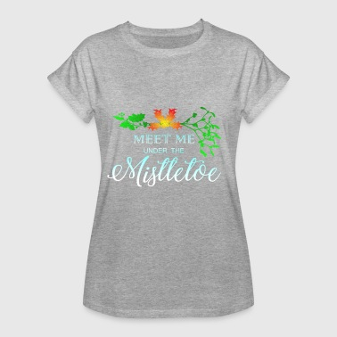 Kiss Under The Mistle Toe - Vrouwen oversize T-shirt