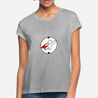 Supereroe LOGO supereroe sagoma bianca rossa - Maglietta larga donna 76c3a278ace
