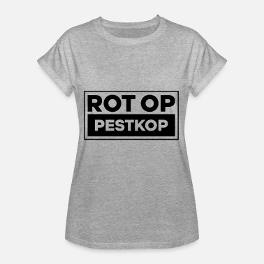 Anti Rot Op Pestkop - Block Black - Vrouwen oversize T-shirt