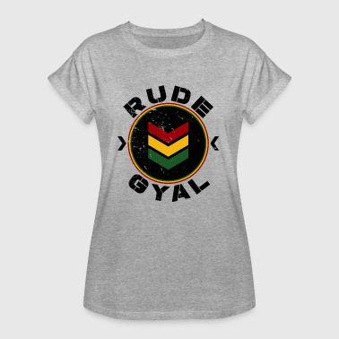 Rude Gyal black distressed - Frauen Oversize T-Shirt