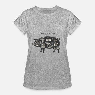 Black Pig cut pig black - Women's Oversize T-Shirt