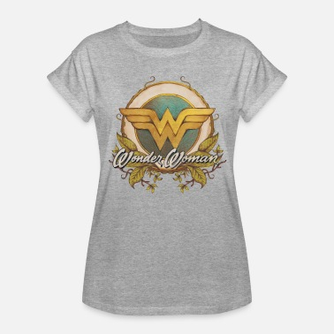 Wonder Woman DC Comics Wonder Woman Logo Bouclier - T-shirt oversize Femme
