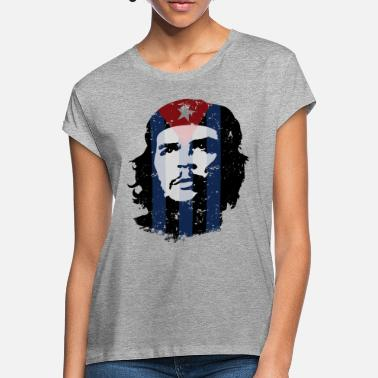 Che Guevara Che Guevara Flag Cuba - Women's Loose Fit T-Shirt