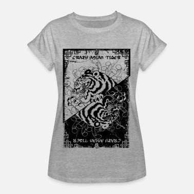 Crazy asian tiger grunge - T-shirt oversize Femme