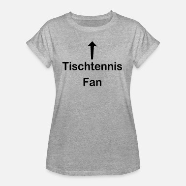 Fan De Tennis Fan de tennis de table - T-shirt oversize Femme