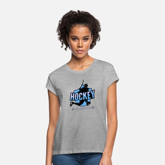Hockey T-shirts - hockey - T-shirt oversize Femme gris chiné