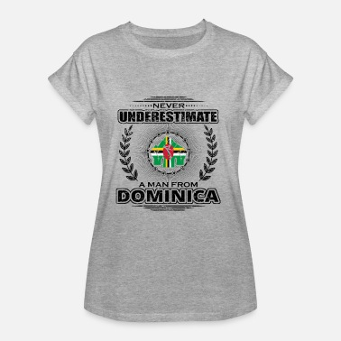 Dominica Vintage Never underestimate man Roots DOMINICA png - Women's Oversize T-Shirt