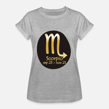 Horoscope Horoscope Scorpion - T-shirt oversize Femme