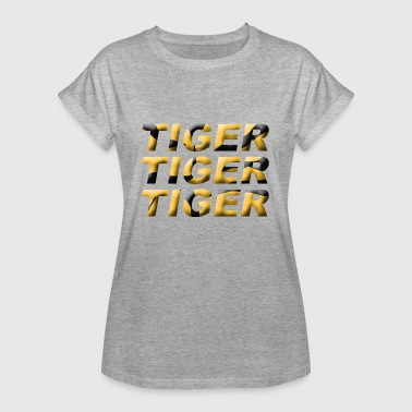 Talal Tieger stripes text animals cat of prey gift idea - Women's Oversize T-Shirt