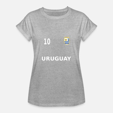 Footballers Jersey Number Uruguay football fan jersey 2018 number 10 - Women's Oversize T-Shirt