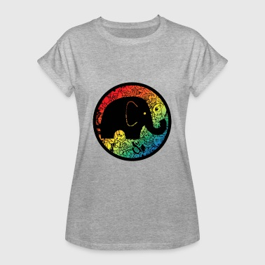Comic Elefant - Frauen Oversize T-Shirt