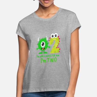 Birthday Funny FUNNY 2ND BIRTHDAY MONSTER DESIGN - Women's Loose Fit T-Shirt