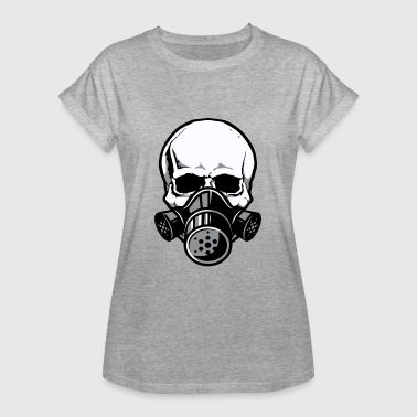 Skull Gas Mask Skull Skull with gas mask - Women's Oversize T-Shirt