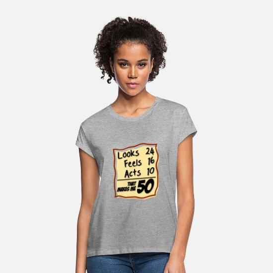 Age T-Shirts - age - Women's Loose Fit T-Shirt heather grey