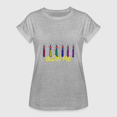 Candle Birthday candles Happy Birthday - Women's Oversize T-Shirt