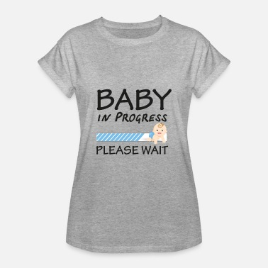 Baby baby in progress (please wait) - T-shirt oversize Femme