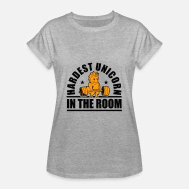 Gym Hardest Unicorn in the room - Women's Oversize T-Shirt