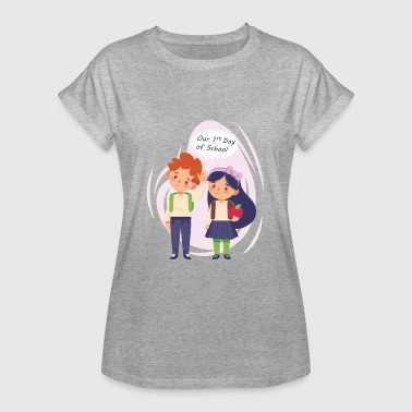 Inscription inscription - T-shirt oversize Femme