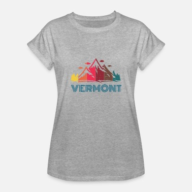 Rutland Mountain State VERMONT - Dame oversize T-shirt