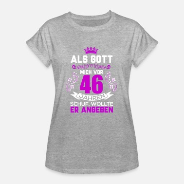 46 Birthday 46 birthday - Women's Oversize T-Shirt