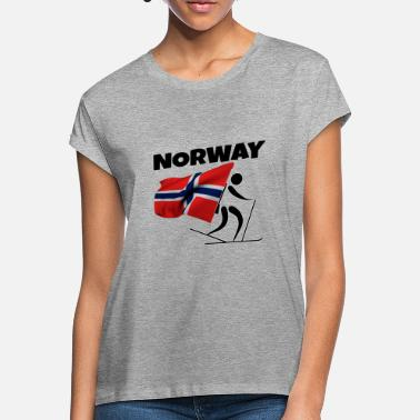 Norway Biathlon with heart in Norway as a gift - Women's Loose Fit T-Shirt
