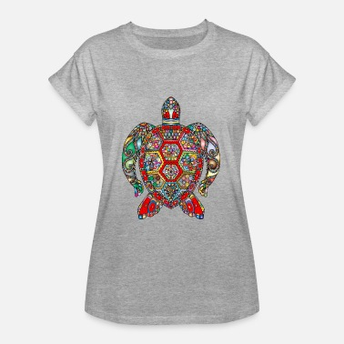Hindi Sea Turtle Hindi - Dame oversize T-shirt