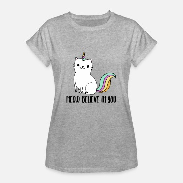Clever Catnicorn - Cute cat as a Unicorn - Vrouwen oversize T-shirt
