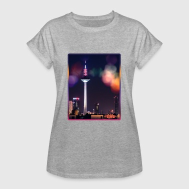 Bokeh Frankfurt skyline with bokeh - Women's Oversize T-Shirt