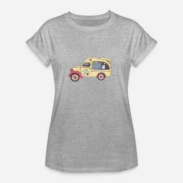 Fourgon Fourgon à glace vintage - T-shirt oversize Femme