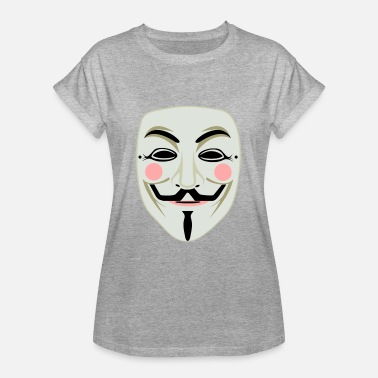 Anonymous Maske An Anonymous Maske - Frauen Oversize T-Shirt