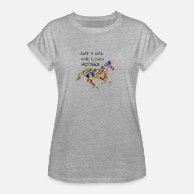 Expressions Cheval Cheval fille chevaux chevaux chevaux - T-shirt oversize Femme