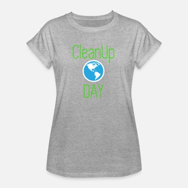 Pollution Environnementale CLEAN UP DAY GREEN RECYCLAGE DE LA POLLUTION ENVIRONNEMENTALE - T-shirt oversize Femme