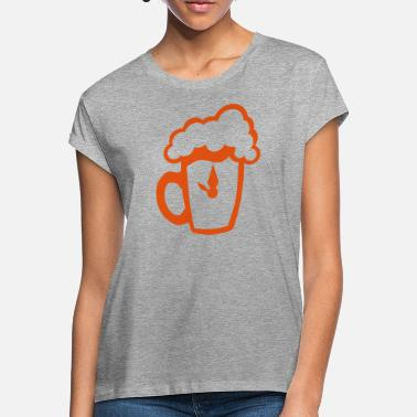 Hour Glass glass beer clock hour humor alcohol - Women's Loose Fit T-Shirt
