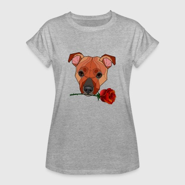Staffie Dog Staffordshire Bull Terrier - Maira - Women's Oversize T-Shirt