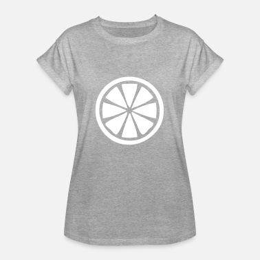 Lime Slice Lemon lime fruit fruit sour slice - Women's Oversize T-Shirt