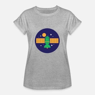 Space Satellite of satellite - Women's Oversize T-Shirt