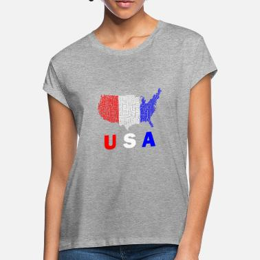 USA combination of words. Great gift idea. - Women's Loose Fit T-Shirt