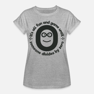 Zero Kids Math Is Fun Until Someone Divides By Zero Gift - Women's Oversize T-Shirt