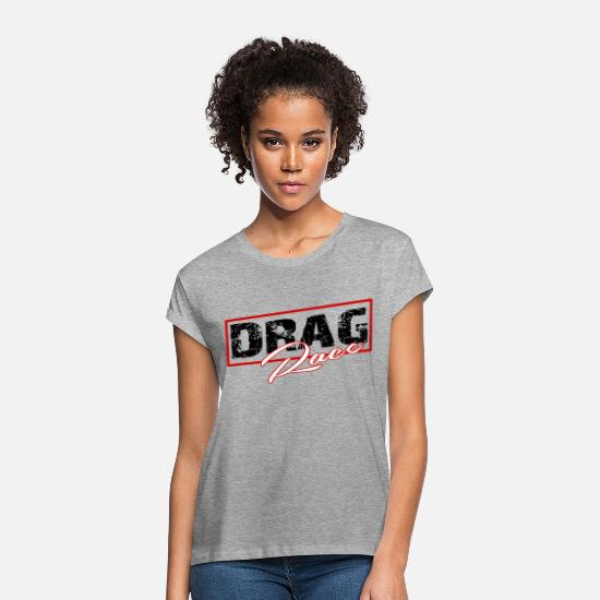 Sport De Course T-shirts - drag course sport automobile - T-shirt oversize Femme gris chiné
