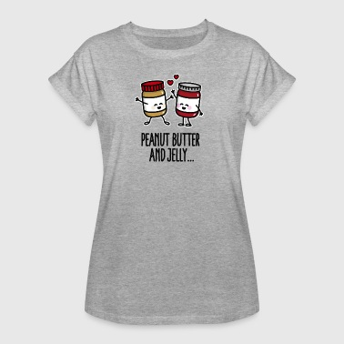 Peanut butter and jelly - Vrouwen oversize T-shirt