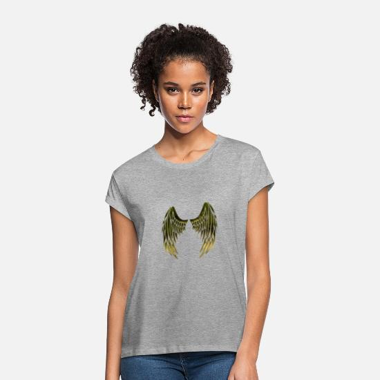 Devil T-Shirts - Wing - Women's Loose Fit T-Shirt heather grey