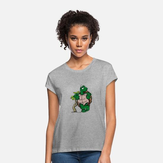 Turtle T-Shirts - turtle - Women's Loose Fit T-Shirt heather grey