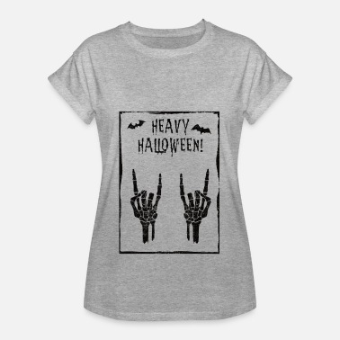Satanic Metal Fork Hard Rock Metal Satan finger Halloween gift - Women's Oversize T-Shirt