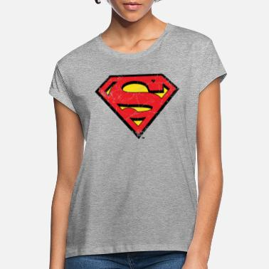 S-shield Superman S-Shield Logo vintage - Naisten oversized t-paita