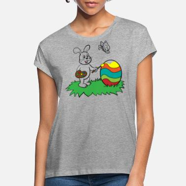 Easter Bunny paints Easter egg - Women's Loose Fit T-Shirt
