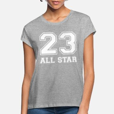 College 23 All Star Sport Basketball Fotbollsgåva - Oversize T-shirt dam